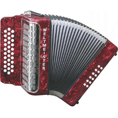 Weltmeister Wiener 521 Diatonic ( Button ) Accordion Red