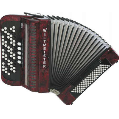 Weltmeister Knopf Chromatic Accordion 70/96/III/5/3