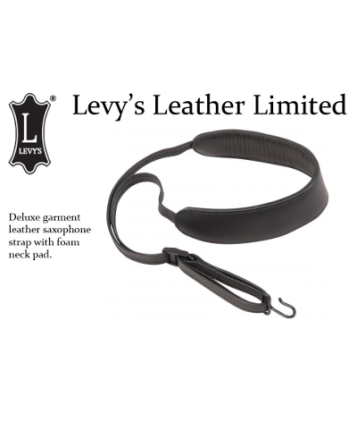 Levys Deluxe Saxophone Leather Strap
