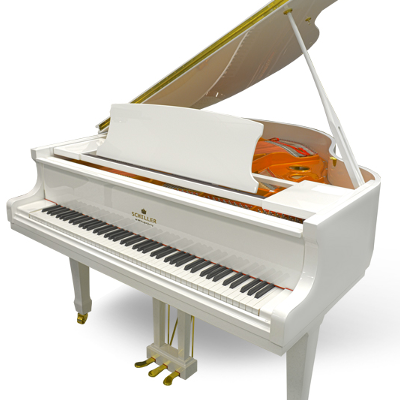 Schiller Performance 5'0 Leipzig Baby Grand Piano - White Polish