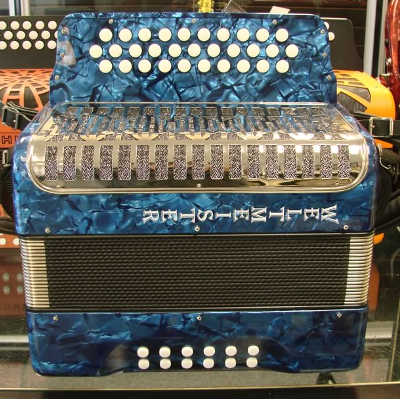 Weltmeister 3 Row Button Accordion Model 509 Blue