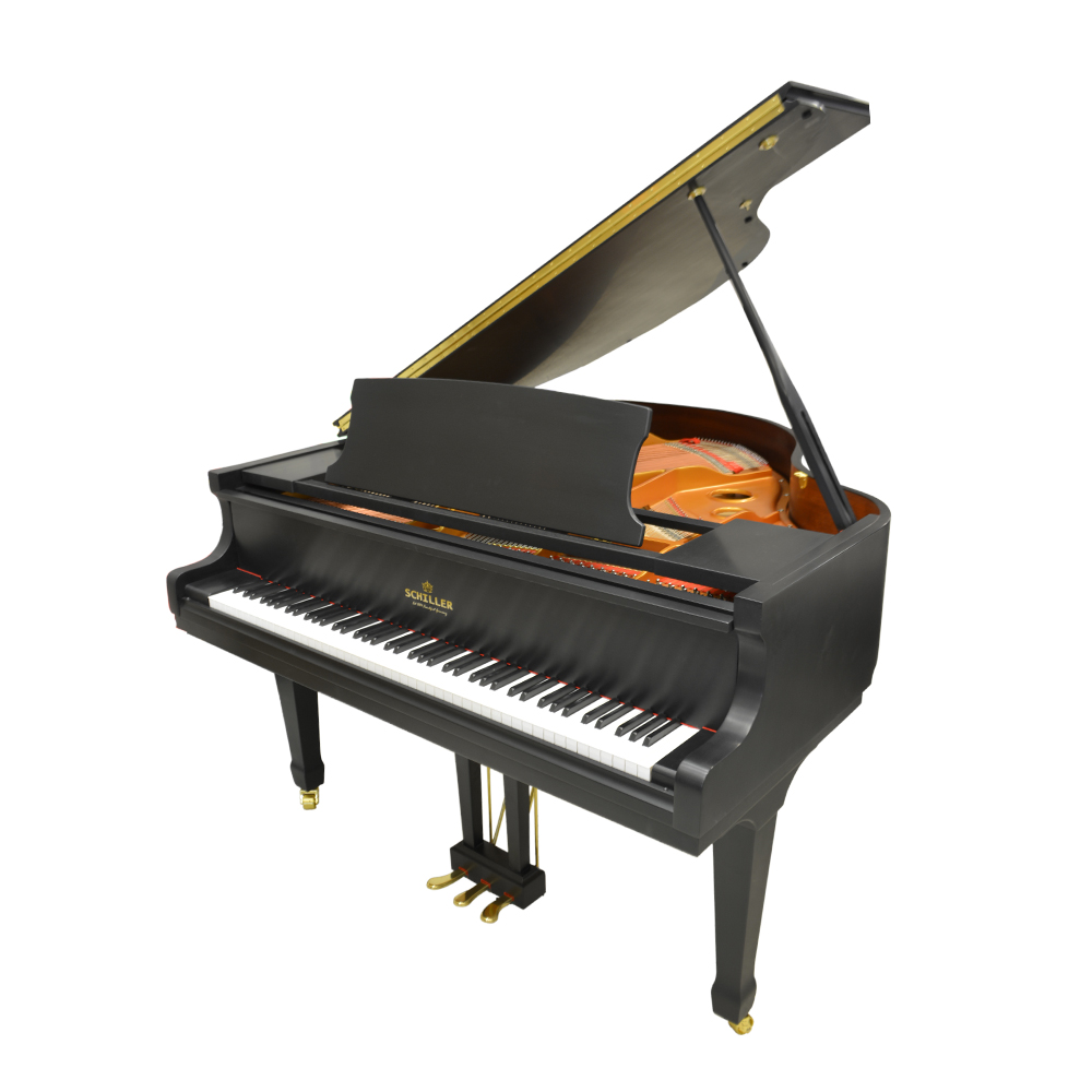Schiller Leipzig Baby Grand Piano - Ebony Satin