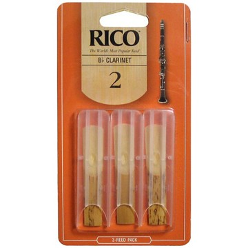 Rico Bb Clarinet Reed Three Pack (Assorted Strengths)