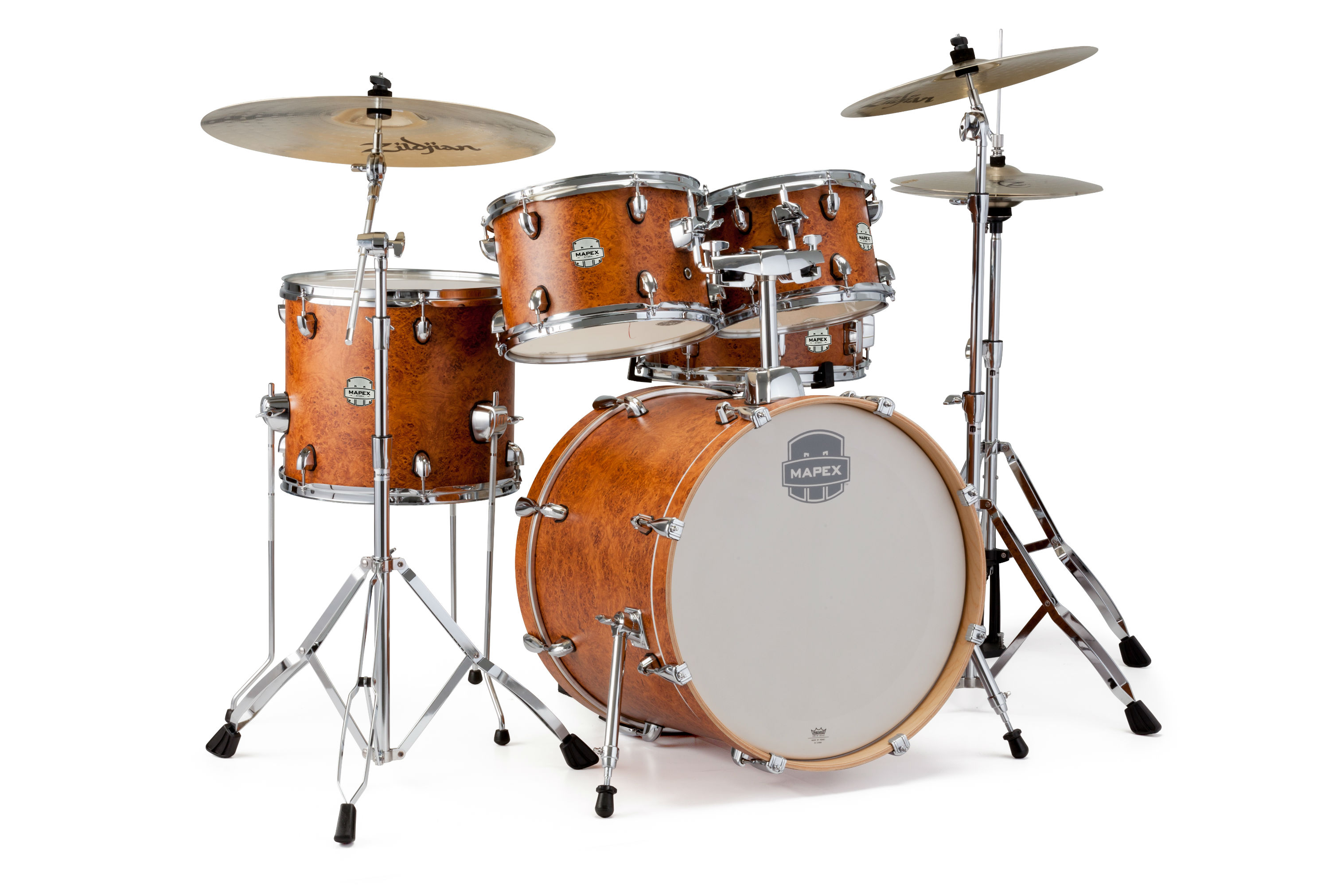 Mapex Storm 5Pc Fusion Drum Set - ST5045FIC - Camphor Wood Grain