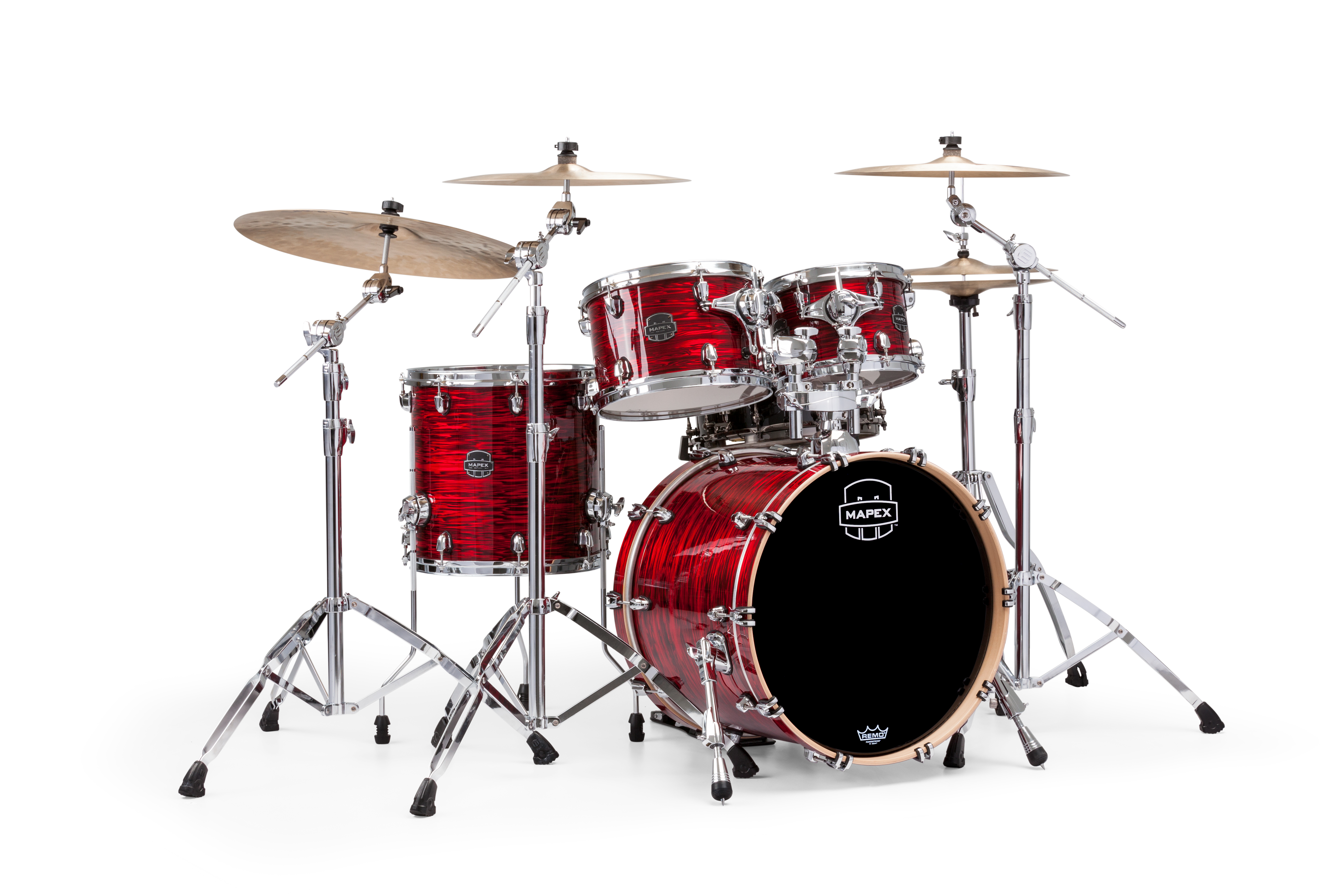 Mapex Saturn V MH Fusion 4-piece shell pack with SONIClear Edge - SV504XPC - Red Strata Pearl