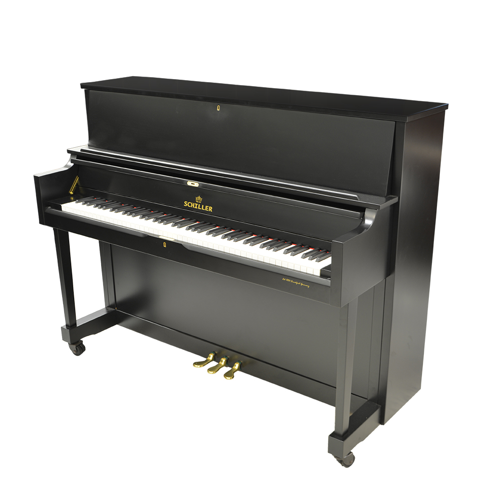 Schiller Performance Frankfurt Upright 46S Upright Piano - Ebony Satin