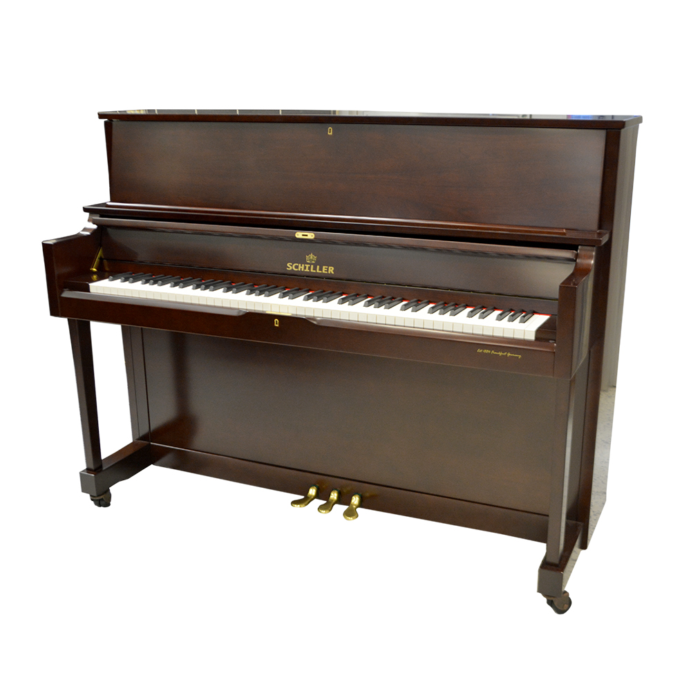 Schiller Performance Frankfurt Upright 46S Upright Piano - Mahogany Satin
