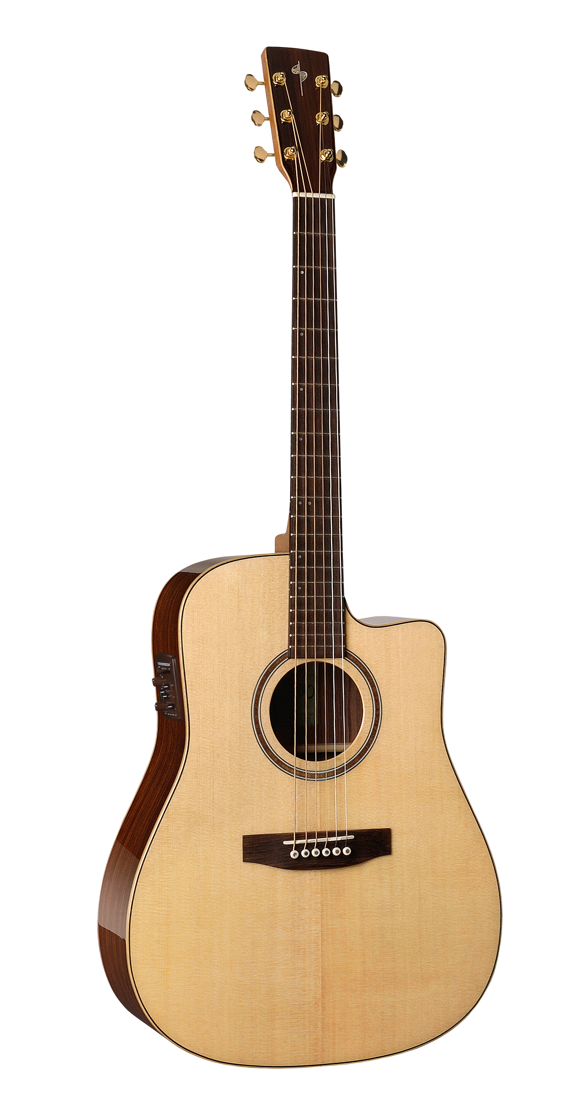 Simon & Patrick 33300 Showcase Cutaway Rosewood Acoustic Electric Guitar w/ B-Band A6T