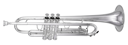 Kanstul Model 103 Bb Silver Marching Trumpet