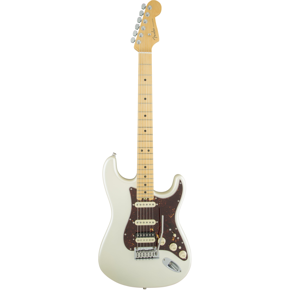 Fender American Elite Stratocaster® HSS Shawbucker Olympic Pearl Maple Fingerboard Electric Guitar