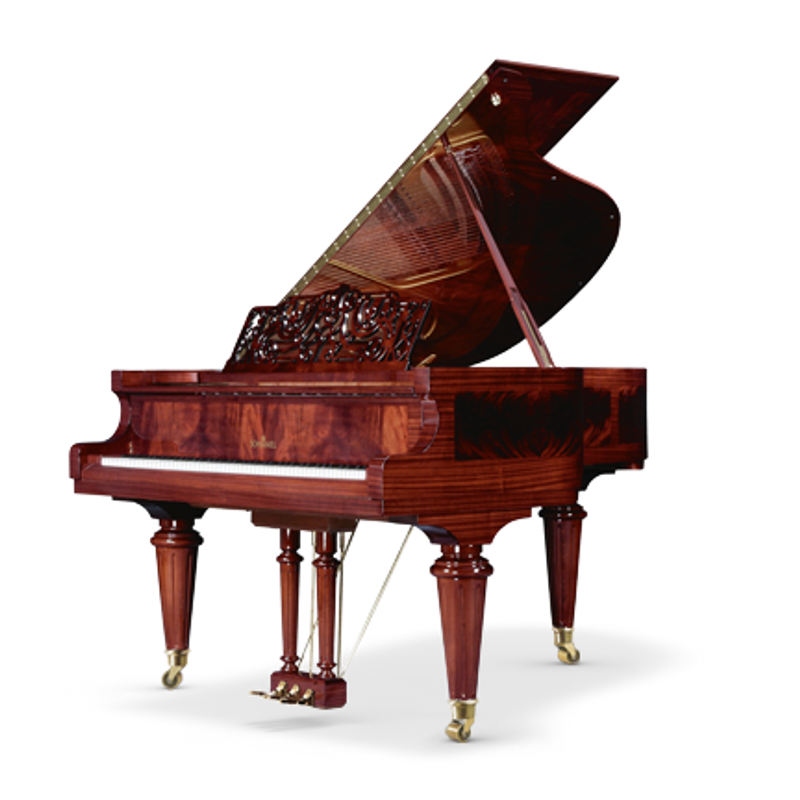 Schimmel Meisterstucke Royal Marketerie Grand Piano - Mahogany - Pramidmahogany High Gloss