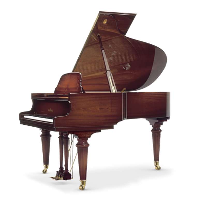 Schimmel Meisterstucke Royal Intarsie Flora Grand Piano - Mahogany High Gloss