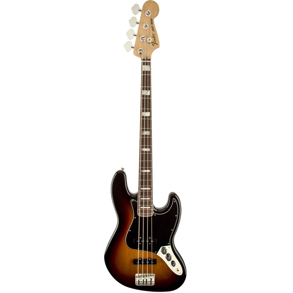 Fender'70s Jazz Bass® 3-Color Sunburst Rosewood Fingerboard Electric Bass Guitar
