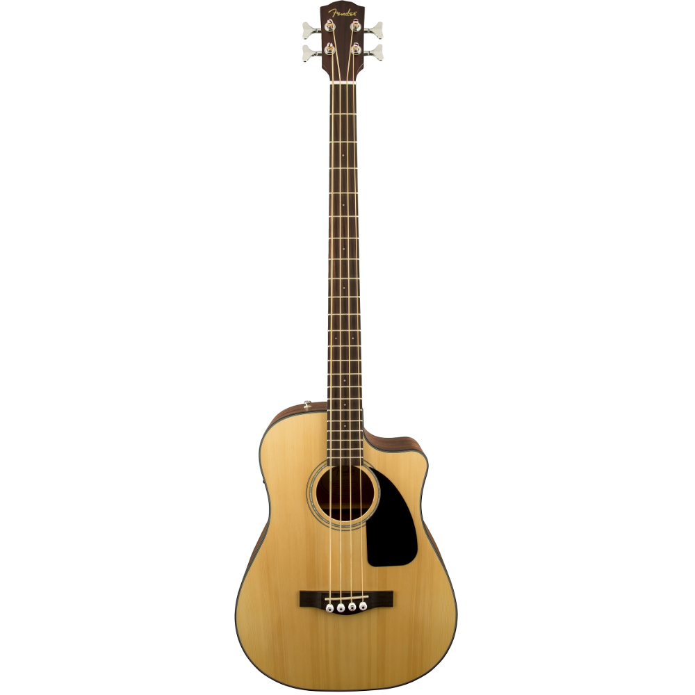 Fender CB-100CE Natural Rosewood Fingerboard Acoustic Electric Bass Guitar
