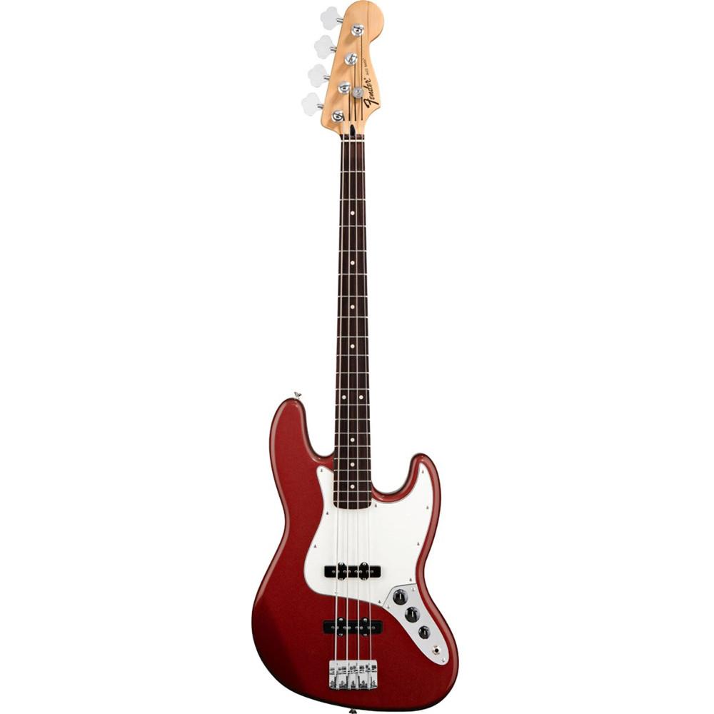 Fender Standard Jazz Bass® Candy Apple Red Rosewood Fingerboard Electric Bass Guitar