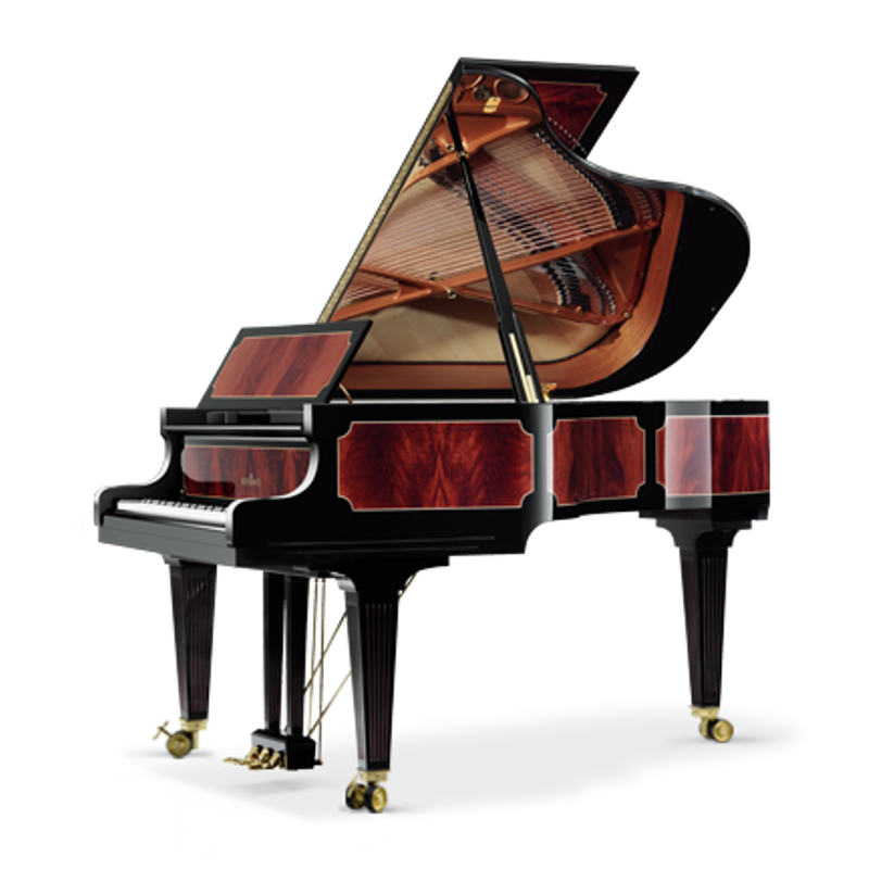 Schimmel Meisterstucke Empire Grand Piano - Mahogany - Pyramidmahogany High Gloss