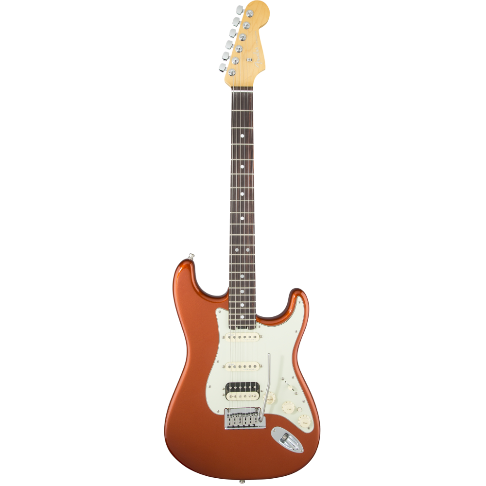 Fender American Elite Stratocaster® HSS Shawbucker Autumn Blaze Metallic Rosewood Fingerboard Electric Guitar