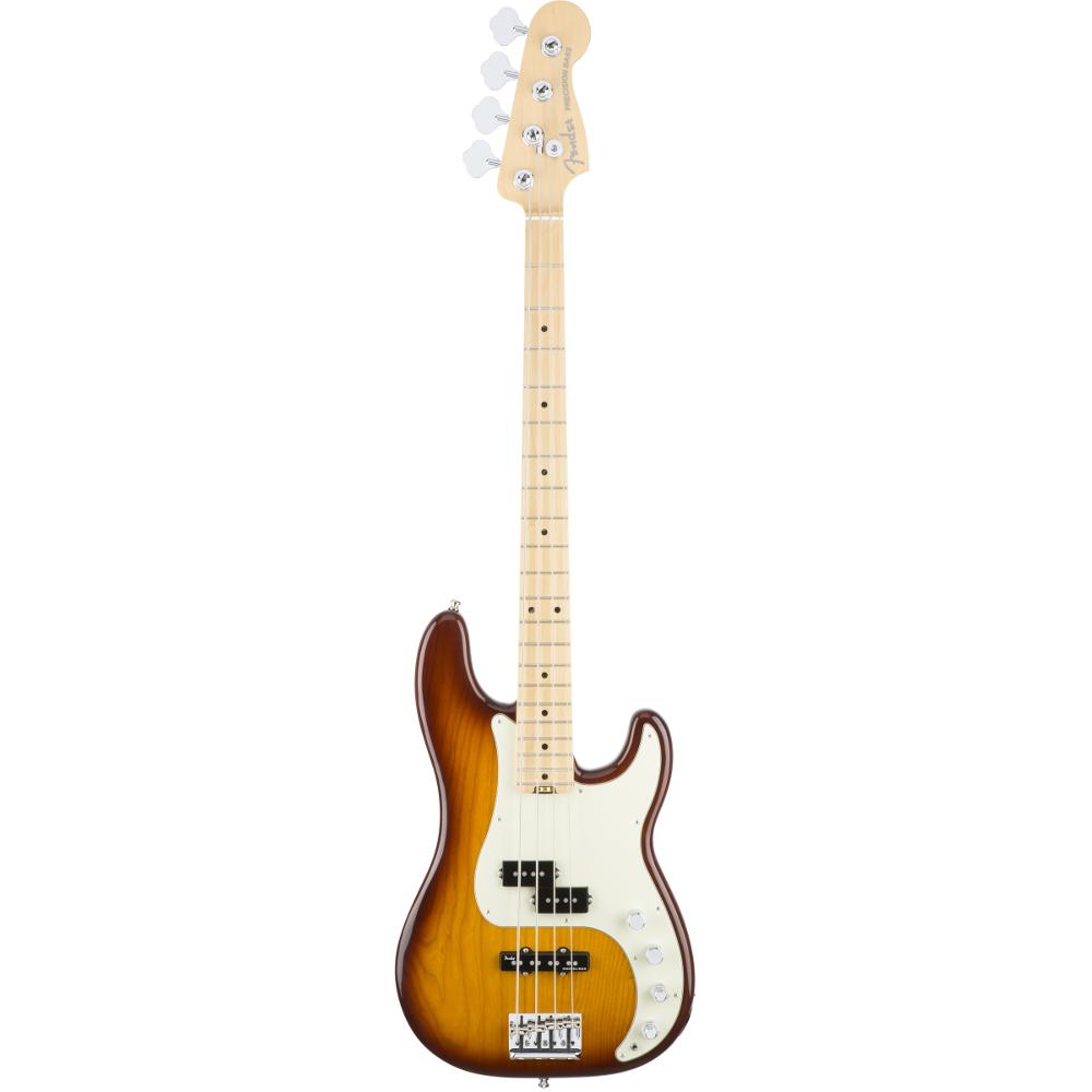 Fender American Elite Precision Bass® Tobacco Sunburst Maple Fingerboard Electric Bass Guitar
