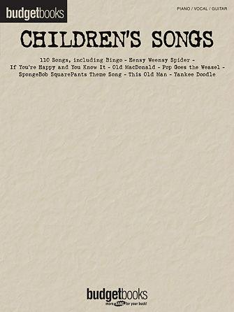 Children's Songs - Budget Books Series