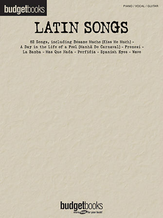 Latin Songs - Budget Books Series