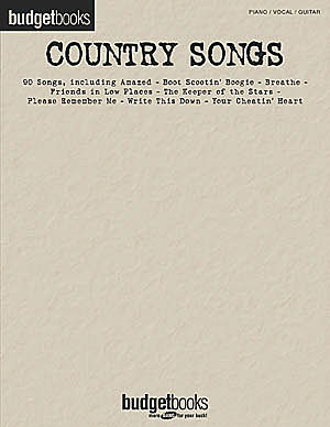 Country Songs - Budget Books Series