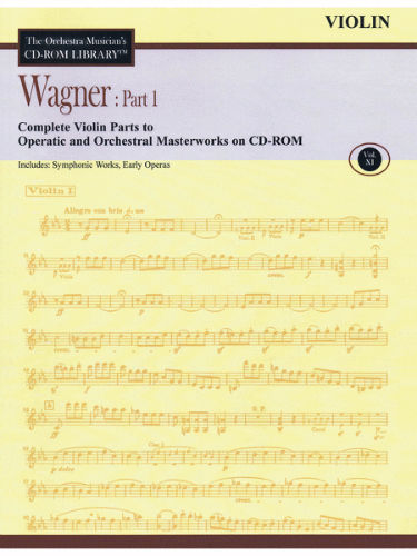 Wagner: Part 1 – Volume 11 - CD Sheet Music Series – CD-ROM