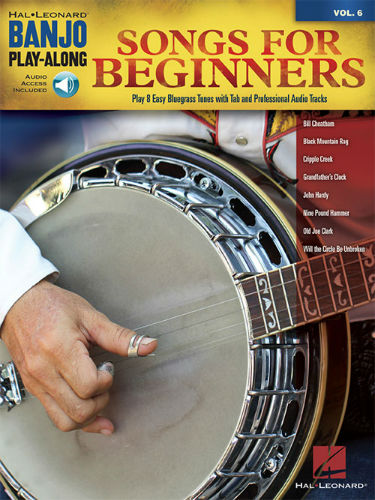 Songs for Beginners - Banjo Play-Along Volume 6 Book and CD