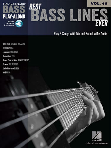 Best Bass Lines Ever - Bass Play-Along Volume 46 Book and Audio Online