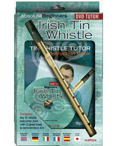 Watons Irish Tin Whistle ( Key of D ) Absolute Beginners Book and DVD Pack