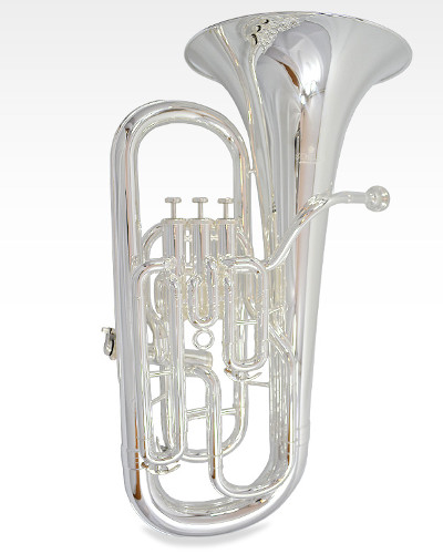 Schiller Elite IV Euphonium with Side Valve - Silver Plated