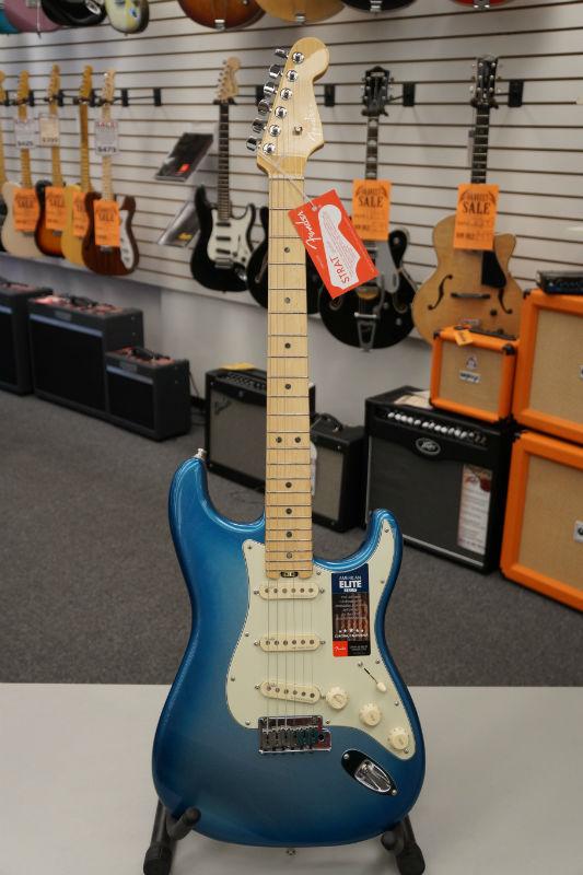 Fender® American Elite Stratocaster® Electric Guitar - Sky Burst Metallic