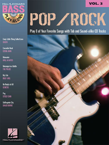 Pop/Rock - Bass Play-Along Volume 3 Book and CD