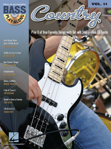 Country - Bass Play-Along Volume 11 Book and CD