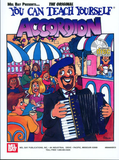 You Can Teach Yourself Accordion ( Piano ) Book and CD