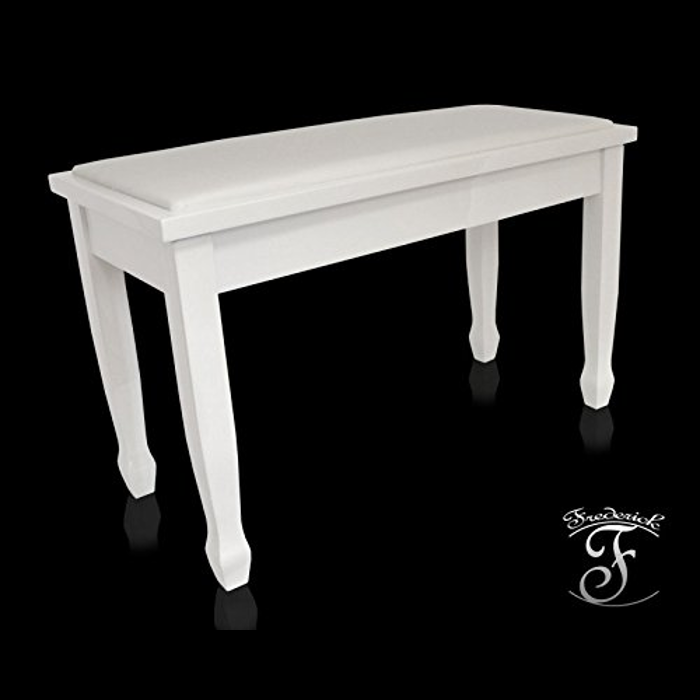 Frederick Duet Piano Bench - White Polish