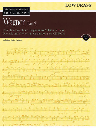 Wagner: Part 2 – Volume 12 - CD Sheet Music Series – CD-ROM
