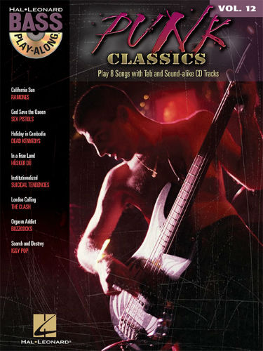 Punk Classics - Bass Play-Along Volume 12 Book and CD