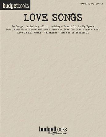 Love Songs - Budget Books Series