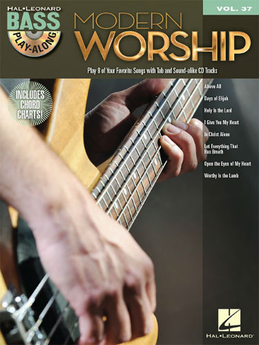 Modern Worship - Bass Play-Along Volume 37 Book and CD