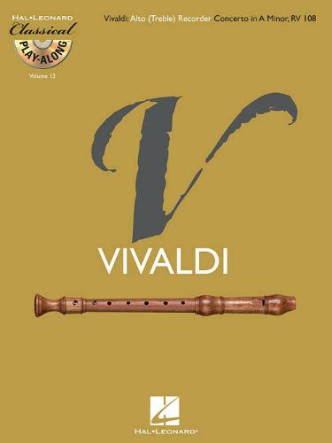 Alto (Treble) Recorder Concerto in A Minor RV 108 - Classical Play-Along Series Volume 13