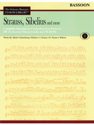 Strauss, Sibelius and More – Volume 9 - CD Sheet Music Series - CD-ROM