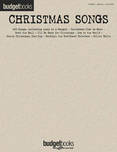 Christmas Songs - Budget Books Series