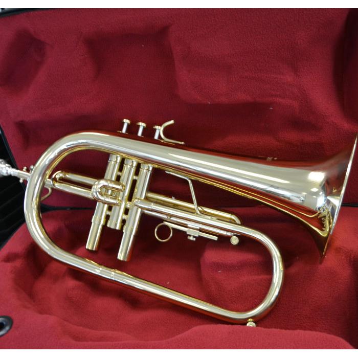 Schiller CenterTone Flugelhorn – Gold Brass