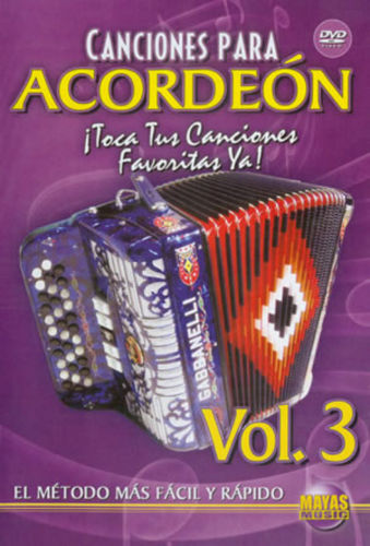 Canciones para Acordeon Volumen 3 DVD