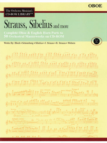 Strauss, Sibelius and More – Vol. 9 - CD Sheet Music Series – CD-ROM