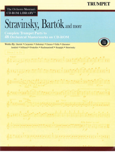 Stravinsky, Bartók and More – Vol. 8 - CD Sheet Music Series – CD-ROM