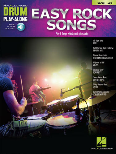 Easy Rock Songs - Drum Play-Along Series Volume 42