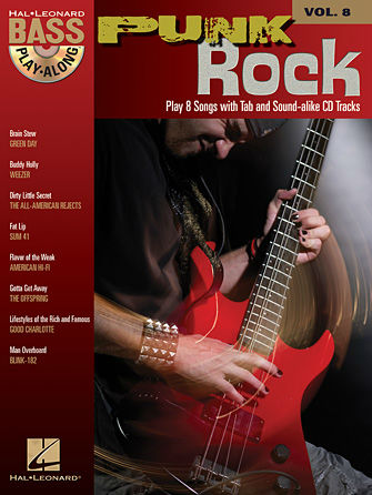 Punk Rock - Bass Play-Along Volume 8 Book and CD