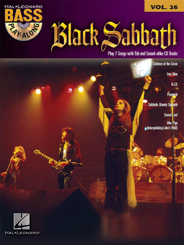 Black Sabbath - Bass Play-Along Volume 26 Book and CD