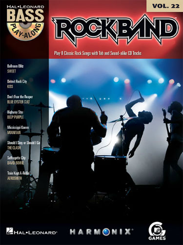 Rock Band - Bass Play-Along Volume 22 Book and CD